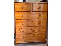 Solid Pine Chest of 6 Draws in Great Condition