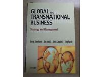 GLOBAL AND TRANSNATIONAL BUSINESS George Stonehouse, Jim Hamill