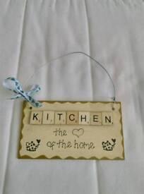 Handmade kitchen plaque