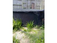 Freestanding moulded fish pond for sale