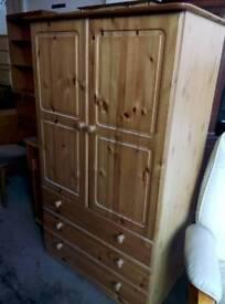 Pine wardrobe. Del available