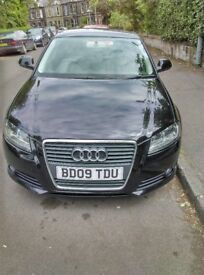 Audi A3 Sportback, 2009/09, full service history, low mileage, new tyres, long tax (£30pa) and MOT