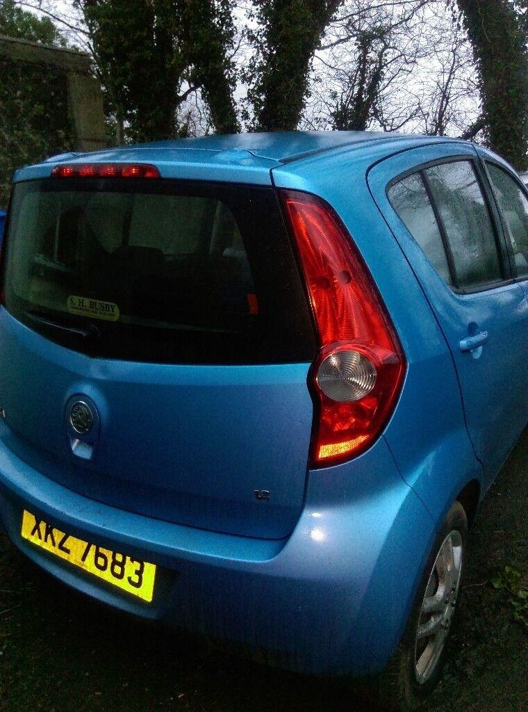 Vauxhall Agila Club 5 door hatchback 2009. Blue. Mot until end July 2018.