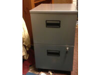 office pedestal 2 drawers filing cabinet lock