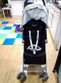 Maclaren Pushchair in Black - With seat liner and raincover