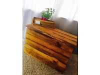 Truely Stunning handmade wooden box, strong, heavy - Storage/Blanket/Toys