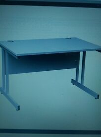 New White wood effect office desks 1200mm