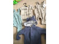 4 up to 1 month newborn baby clothes Bnwt Boy Dungarees next mothercare