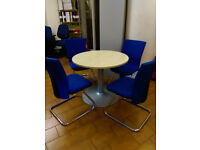 Round Meeting Table with 4 Chairs