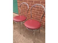 New Cafe chairs / New restaurant chairs in Faux leather seat and Chrome frame