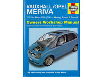 HAYNES VAUXHALL OPEL MERIVA SERVICE REPAIR MANUAL 2003 - 2010 PETROL & DIESEL