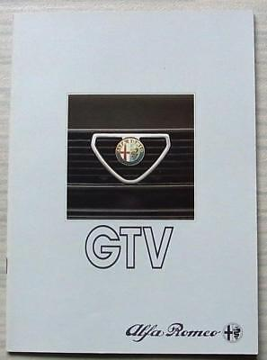 ALFA ROMEO GTV 2.0 & GTV6 2.5 Car Sales Brochure Oct 1983 GERMAN TEXT #8310 242