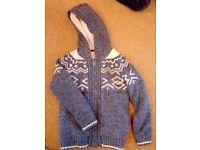 Fleece lined cardigan jacket Age 8-9