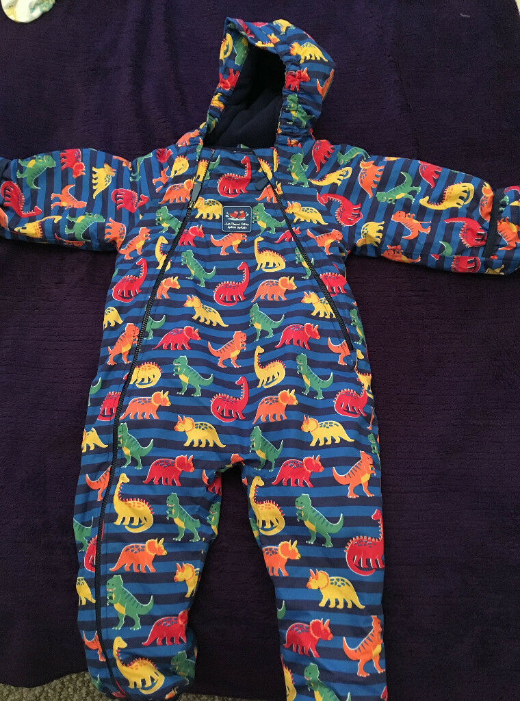 a022bcb9a Dinosaur Print Waterproof Fleece Lined All-in-One
