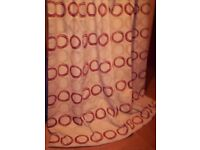 JOHNLEWIS FULLY LINED HEAVYWEIGHT, PENCIL PLEAT CURTAINS, SIZE IS 74 X 84 DROP