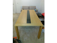 MODERN AND CONTEMPORARY Matching Solid Oak Belgica Sideboard and 6/8 Seater Dining Table