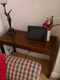 Dark wood corner table