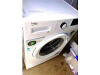 Beko Washing Machine in white 8kg 1400 spin speed with daily quick programme
