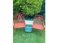 A lovely set of garden seats