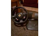 Thrustmaster Ferrari steering wheel and pedals for Xbox 360