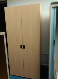 Wooden Stationary Cupboards Beech