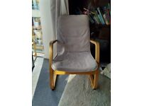 Armchair with washable cover