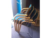 Thonet office stacking chairs / Thonet reception chairs / office meeting chairs