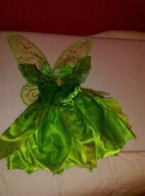Girls tinkerbell costume dress up