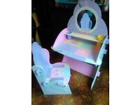 kiddies princess dressing table and chair