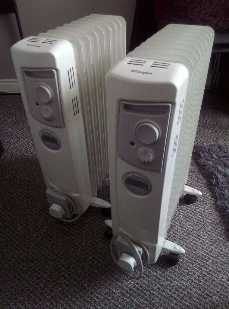 Dimplex 2 KW Electric Oil Filled Radiator with Timer [Energy Class A] x 2