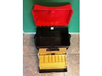 SUNDRIDGE FISHING SEAT / TACKLE BOX & 2 TRAY CANTILEVER TACKLE BOX (no offers please!)