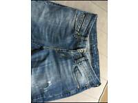 Two top condition LEVIS Jeans dark blue and light blue