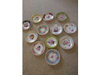 "!A Celebration of Coalport Roses"" Collection - 12 Ornamental Plates"
