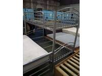 Silver/Grey Metal Bunk Bed Frame