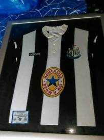 Two Framed Newcastle United Shirts circa 1990s