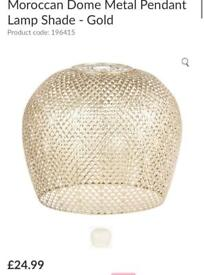 Gold metal lampshade never used RRP£25