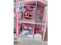 Designafriend doll house + furniture (Like new)