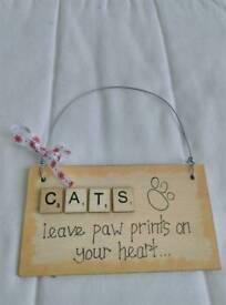 Handmade Cat Plaque