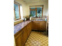Traditional OAK kitchen units including cooker and oven stainless sink for sale only 300 ponuds