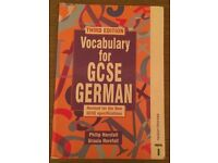 GCSE German Vocab book