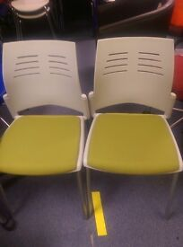 Pair of Cafe chairs / Stacking chairs , Canteen chairs, Kitchen chairs