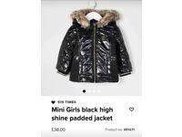 BRAND NEW mini girls river island coat
