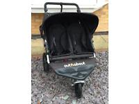Out N About double pushchair with extras