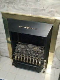 Sunbeam deluxe Coal Effect Flame Electric fire and Surround