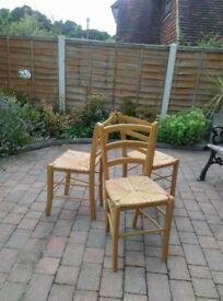 3 Kitchen chairs for sale.