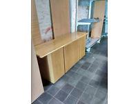 Oak boardroom credenza unit