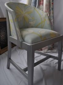 ***Edwardian style wooden Library /tub chair***