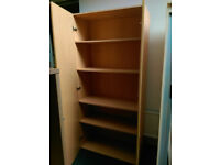 Wooden Stationary Cupboards Beech