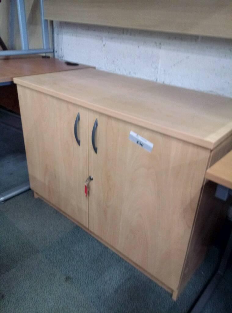2 door office storage cupboard. With keys