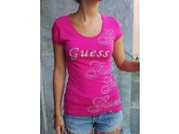 New pink Guess t-shirt size S